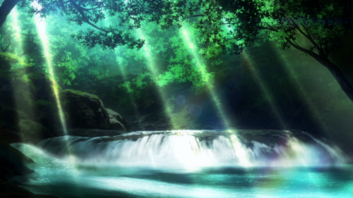Rather beautiful backgrounds permeate the show