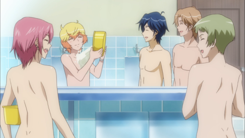 The bath scenes: fan-service and metaphors in one