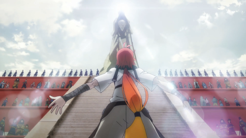 Rokka no Yuusha / Episode 1 / Adlet winning in the duel and proclaiming his desire to become a Brave