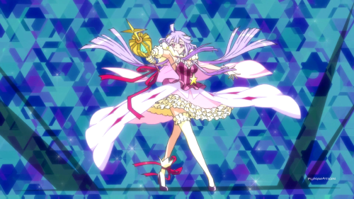 Concrete Revolutio: Choujin Gensou / Episode 1 / Kikko transforms into her witch self for the first time