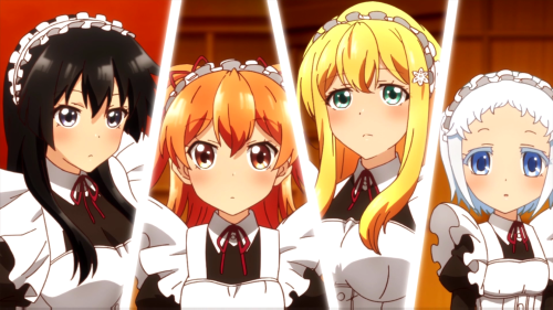 Shomin Sample / Episode 9 / Karen, Aika, Reiko, and Hakua as commoner maids