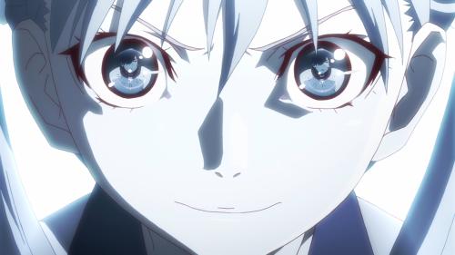 Owarimonogatari / Episode 2 / Sodachi stares down Araragi