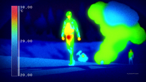 Kekkai Sensen / Episode 8 / Zapp under infrared after defeating an incredibly difficult adversary