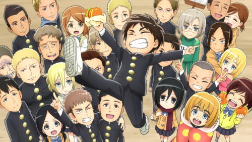 Shingeki! Kyojin Chuugakkou / Episode 12 / The last shot, featuring the entire cast
