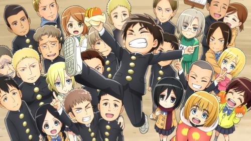 Shingeki! Kyojin Chuugakkou / Episode 12 / The last shot, featuring the entire cast