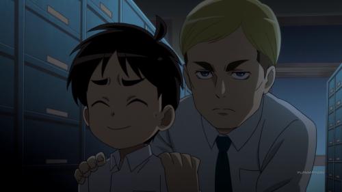 Shingeki! Kyojin Chuugakkou / Episode 8 / Erwin spooks Eren