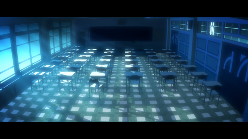 Owarimonogatari / Episode 1 / The classroom where Sodachi was deemed the cheating culprit