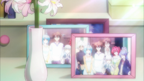 Shinmai Maou no Testament Burst / Episode 10 / The final shot of the season that showcases the whole gang