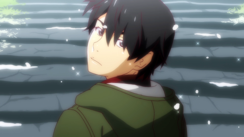Owarimonogatari / Episode 12 / Araragi looking back, both literally and figuratively, as the season concludes