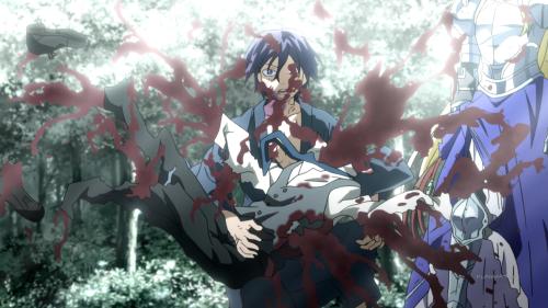 Noragami Aragoto / Episode 13 / Ebisu dying in Yato's arms
