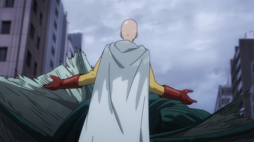 "One Punch Man / Episode 9 / Saitama becoming the ""bad guy"" to help out society and his fellow heroes"