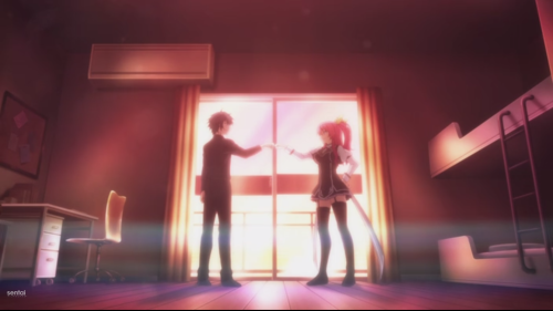 Rakudai Kishi no Cavalry / Episode 1 / Ikki and Stella finally becoming friends after the duel between them