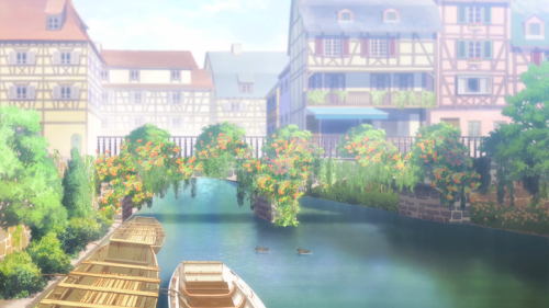 Is the Order a Rabbit?? / Episode 8 / A peaceful shot of the town the girls live in
