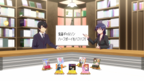 Owarimonogatari / Episode 10 / Kanbaru explains the details behind one of her favorite light novel series
