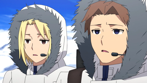 Heavy Object / Episode 9 / Qwenthur and Havia unable to believe that they have to trek through Antarctica