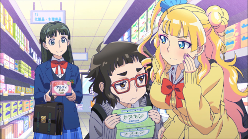 "Oshiete! Galko-chan / Episode 2 / Ojou unabashedly buying tampons and subsequently ""creeping out"" Otako and Galko"