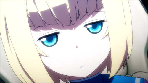 Heavy Object / Episode 13 / Milinda not amused by Frolaytia's lack of defending herself when posed with a certain question