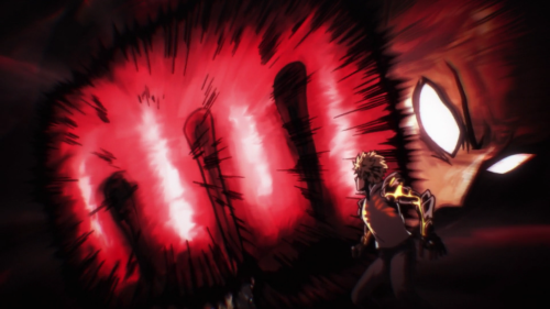 One Punch Man / Episode 5 / Saitama demonstrating his true power to Genos