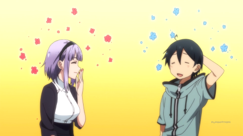 Dagashi Kashi / Episode 11 / Hotaru and Coconuts having fun talking about Miyako Kombu