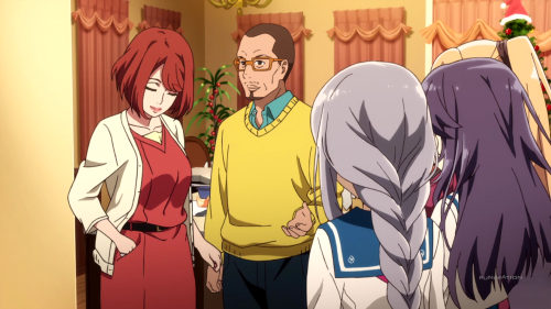 HaruChika: Haruta to Chika wa Seishun suru / Episode 4 / Maren's parents doing their best to speak English
