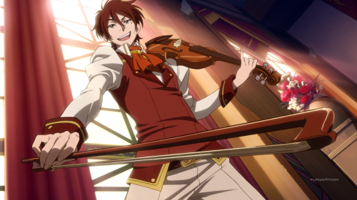 Akagami no Shirayuki-hime 2nd Season / Episode 4 / Raj posing with his violin