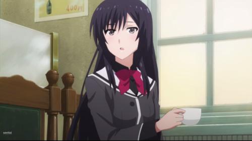 Shoujo-tachi wa Kouya wo Mezasu / Episode 4 / Kuroda getting left behind by Bunta as he gets some writing advice