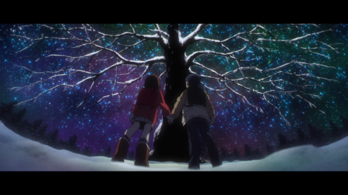 Erased / Episode 3 / Kayo and Satoru looking at an awe-inspiring tree together