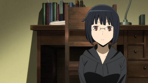 Durarara!!x2 Ketsu / Episode 6 / Anri speaking with Saki for the first time