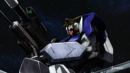 Mobile Suit Gundam: Iron-Blooded Orphans / Episode 5 / The Gundam Barbatos emerging from its housing