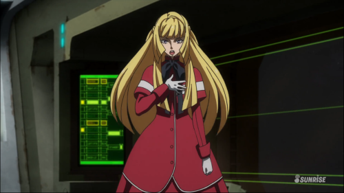 Mobile Suit Gundam: Iron-Blooded Orphans / Episode 18 / Kudelia delivering a speech to the masses