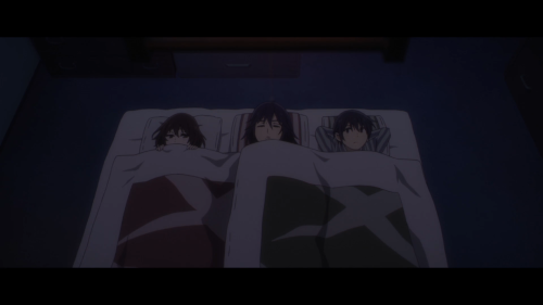 Erased / Episode 8 / Sachiko sleeping in-between Kayo and Satoru