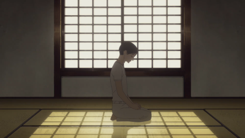 Shouwa Genroku Rakugo Shinjuu / Episode 3 / Bon reciting rakugo to ease his heavy heart