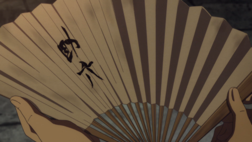 Shouwa Genroku Rakugo Shinjuu / Episode 8 / Bon opening up and looking at Shin's personal rakugo fan