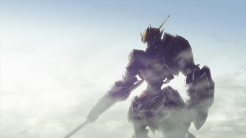Mobile Suit Gundam: Iron-Blooded Orphans / Episode 1 / The first appearance of the Gundam Barbatos