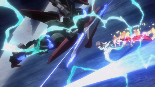 Gakusen Toshi Asterisk 2nd Season / Episode 9 / Ayato squaring off against the combined might of AR-D and RM-C