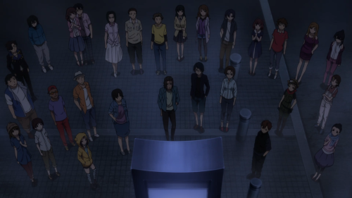Mayoiga / Episode 1 / Nearly the entire cast grouped together before embarking on the final stretch to Nanaki Village
