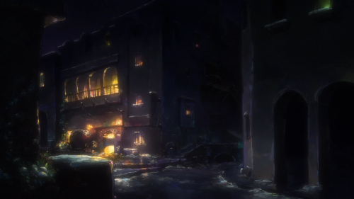 Hai to Gensou no Grimgar / Episode 9 / An outer shot of the pub the group normally visits