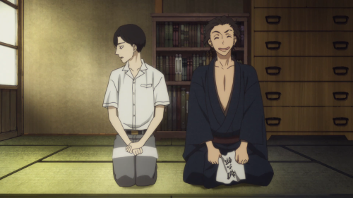 Shouwa Genroku Rakugo Shinjuu / Episode 2 / Bon and Shin finally receiving their rakugo names