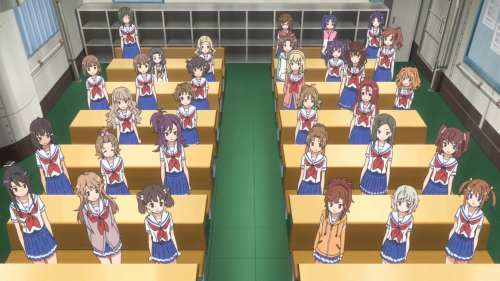 High School Fleet / Episode 1 / The entire Harekaze crew