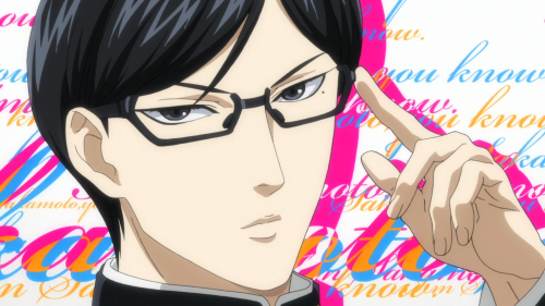 Sakamoto desu ga? / Episode 1 / The first time Sakamoto says the title of the show
