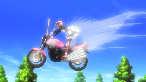 "Bakuon!! / Episode 7 / Hane ""flying"" high on her motorcycle"