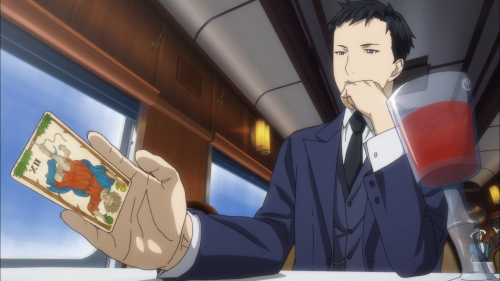 Joker Game / Episode 6 / Sleight of hand tricks on a train