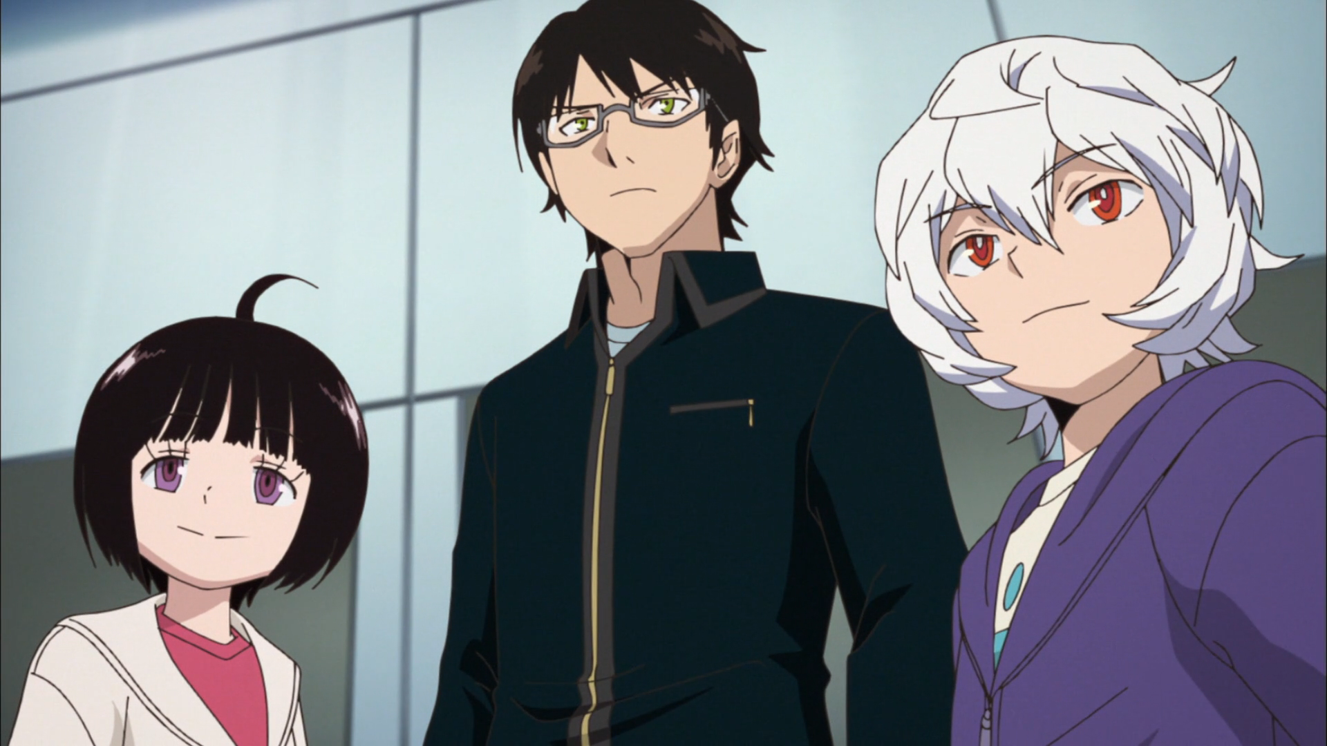 World trigger episode 39 chika osamu and yuma standing together