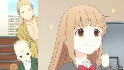 "Tanaka-kun wa Itsumo Kedaruge / Episode 7 / Myaano twinkling while talking about ""God"" and ""Buddha"""