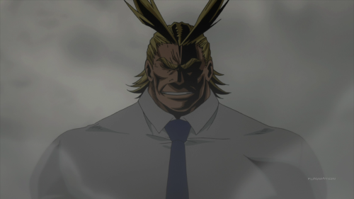 Boku no Hero / Episode 12 / All Might arriving to the final fight