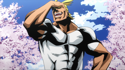 Boku no Hero Academia / Episode 1 / First meeting with All Might