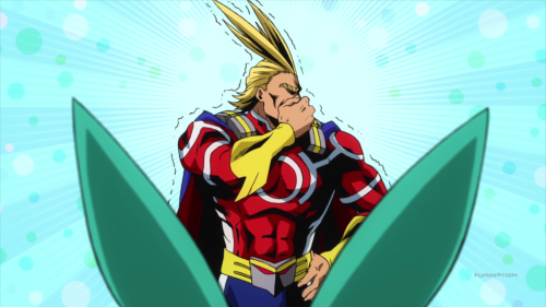 Boku no Hero Academia / Episode 6 / All Might after seeing Deku's hero costume
