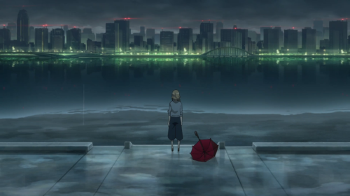 Kiznaiver / Episode 7 / Maki looking out over the river