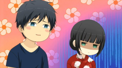 ReLIFE / Episode 13 / Kaizaki acting all smug as Hishiro looks on disapprovingly