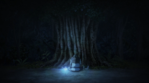 Nejimaki Seirei Senki: Tenkyou no Alderamin / Episode 2 / Ikta honoring some fallen soldiers